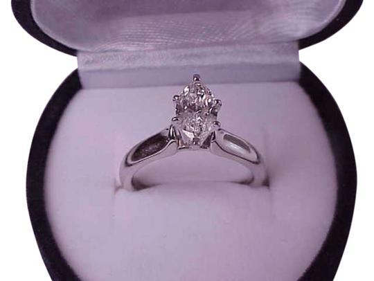Other $7000 1.01ct Solitaire Marquise Cut Diamond Engagement 14kt White Gold Ring, Appraisal Included!