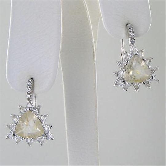 Anzie Anzie Aztec Earrings Rutilated Quartz White Topaz Sterling Silver
