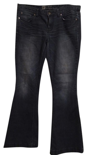 Mossimo Supply Co. Flare Leg Jeans-Dark Rinse