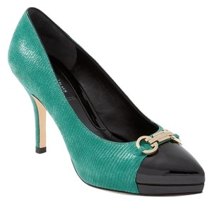 White House | Black Market Heel Green, black, gold Pumps