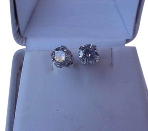 Unknown $8,300 1.50ct of round brilliant cut diamond studs 14k white gold
