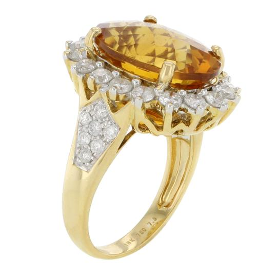 Other 18K Yellow Gold 8.92CTW Fire Opal with 1.63CTW Diamond Accent Women's Cocktail Ring