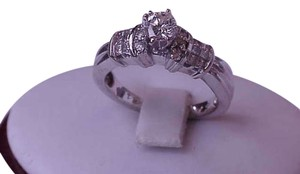 $5500 Estate .90ct Solitaire Diamond 14kt White Gold Ring, Appraisal