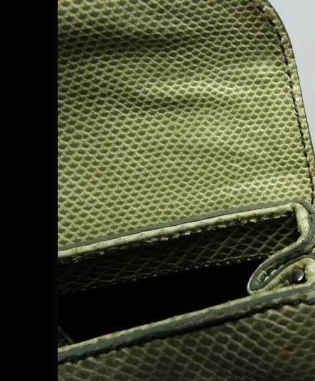 Tod's Lizard Reptile Evening Free Shipping Celadon Green (pale lime green) Clutch