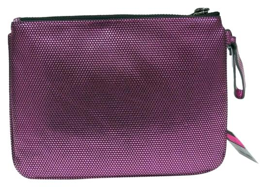 Juicy Couture Stars Tech Pouch Wristlet in Metallic pink