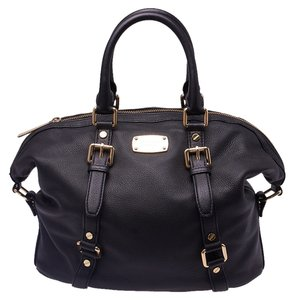 Michael Kors Leather Tote in Black
