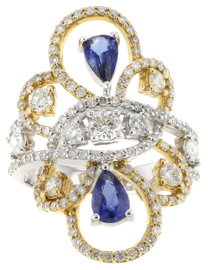 Preload https://item4.tradesy.com/images/other-18k-yellow-and-white-gold-085ct-sapphire-and-151ct-diamond-size-775-women-s-cocktail-ring-3047053-0-0.jpg?width=440&height=440