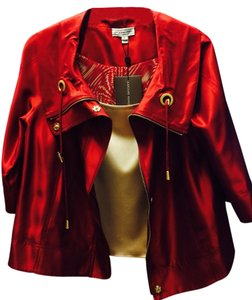 St. John Sport Burgundy And Cream Jacket