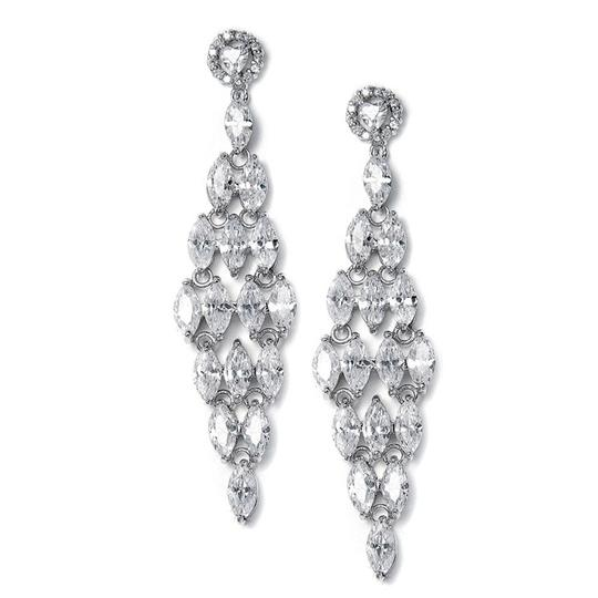 Mariell Silver Chandelier with Marquis 490e Earrings