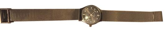 Skagen Denmark Skagen mesh watch with round black face