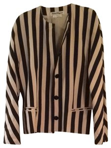 Salvatore Ferragamo Black and White Blazer