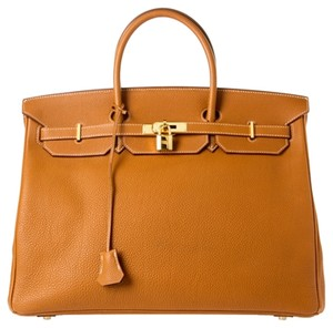 Hermès Hermes Birkin Togo New Satchel in Gold