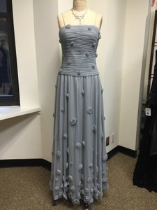 Grey Willa Han Flower Detailed Tulle Gown Dress