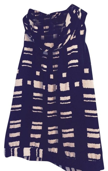 Calvin Klein Abstract Tribal Wear To Work Top Black and White