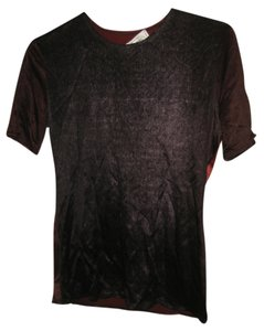 Patric Roth Silk Silk Shirt Silk Tee Tee Top Red and purple