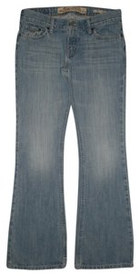 Hollister 5 Pocket * Zip Fly * Low Rise * * Cotton *machine Washable *whiskering & Distressing Detail Flare Leg Jeans-Medium Wash