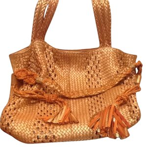Claramonte Soft Metallic Lattice Leather Hobo Bag
