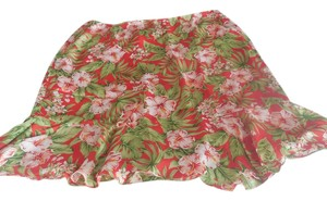 Jones New York Silk Plus-size Skirt Red