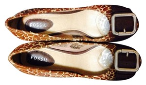 Fossil Brown Pumps