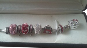 Kay Jewelers Hello Kitty charm bracelet with Swarovski crystals