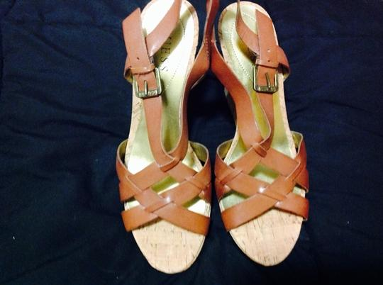 Guess Caramel Brown Wedges