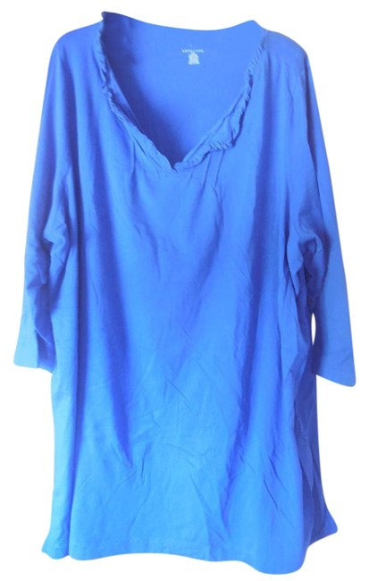 Lands' End Plus-size Ruffle Vented Tunic