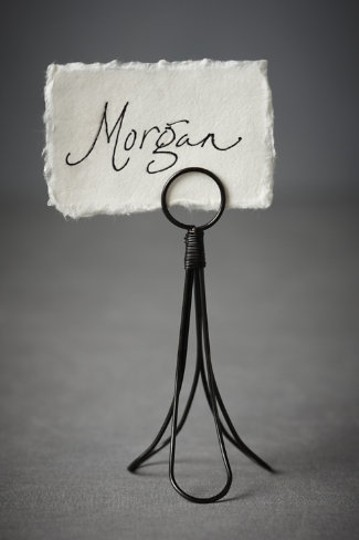 BHLDN Black Linear Tulip Placeholders Reception Decoration Image 1