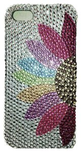 Luxem iPhone 5 Silver Tone Rhinestone phone cover with Flower Design