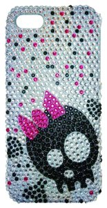 Luxem iPhone 5 Silver Tone Rhinestone cover with Skull Design