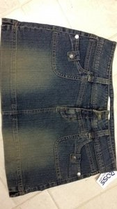 Hydraulic Skirt washed jean