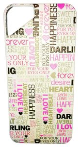 Luxem iPhone 5 White Cover with Colorful Words