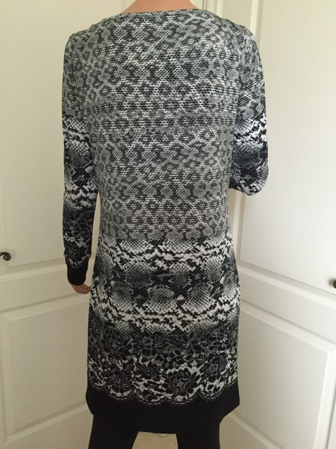 Michael Kors Long Sleeve Print Boat Neck Dress