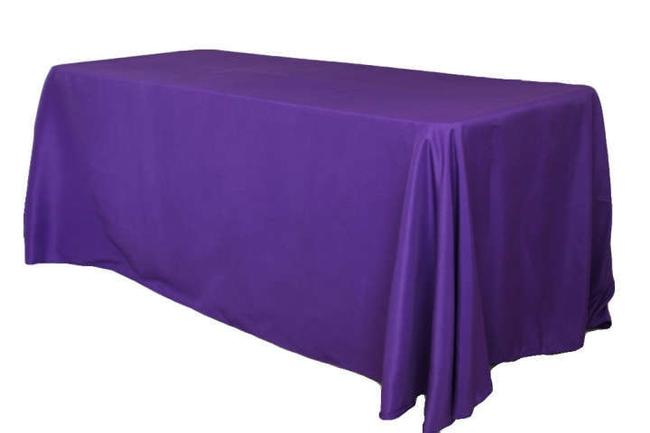 """Item - Purple Regency 90"""" X 132"""" Polyester Rectangle Of Two Tablecloth"""