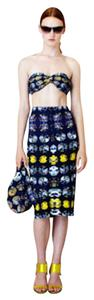 Zero + Maria Cornejo Midi Stretch Pattern Op-art Skirt multi