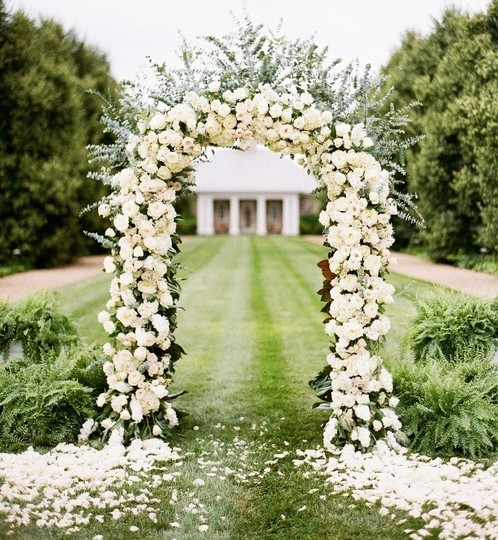 "White Metal 7.5ft 90"" Arch Frame Stand Ball Room Door Party Bridal Prom Garden Floral Ceremony Decoration"