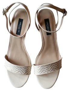 Ann Taylor Tan and Cream Wedges