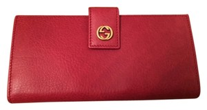 Gucci Gucci - Red Leather Wallet
