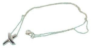 Tiffany & Co. (ENT) MTSL01 Authentic Tiffany & Co. X Sterling Silver Necklace 16