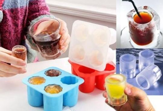 Bridal Party & Grooms Party Shot Glass Gifts - Silicone Ice Cube Tray Shot Glass Freeze Mold Maker Shooters Tray Party