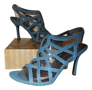 Elizabeth and James Leather blue Sandals
