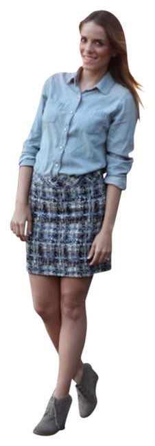 J.Crew Mini Skirt Blue Metallic