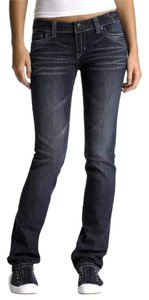 Aéropostale 5 Pocket Style * Zip Fly * Low Rise * Cotton/Spandex *machine Washable * Whiskering Detail * Rhinestones On Back Pockets Skinny Jeans-Dark Rinse