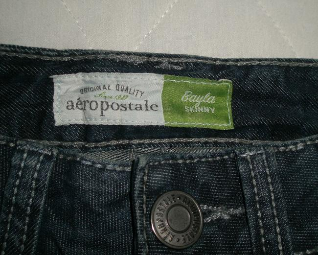 Aéropostale 5 Pocket Style * Zip Fly * Low Rise * Cotton/spandex *machine Washable * Whiskering Detail * Rhinestones Pockets * 0142 Skinny Jeans-Dark Rinse