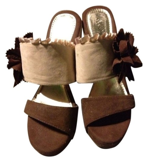 Elegant Collection Brown Wedges