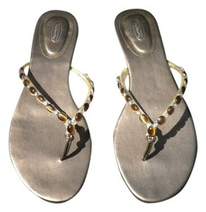 Talbots Metallic Leather Bronze/Gold Sandals