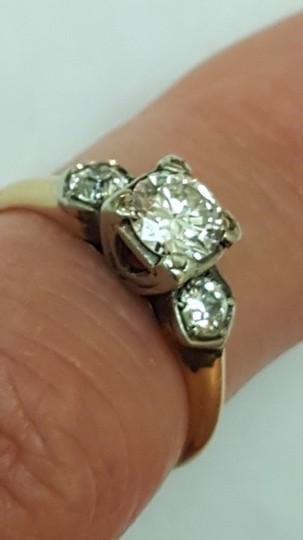 Other Antique .80ct Billiant cut Diamond 14k Yellow Gold Engagement Ring