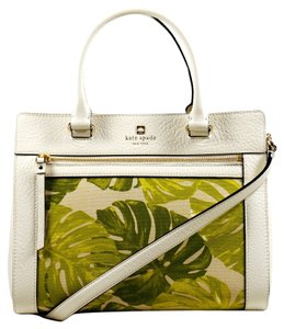 Kate Spade Satchel in White & Green