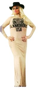 Tan with black graphic Maxi Dress by AAC Maxi Tee