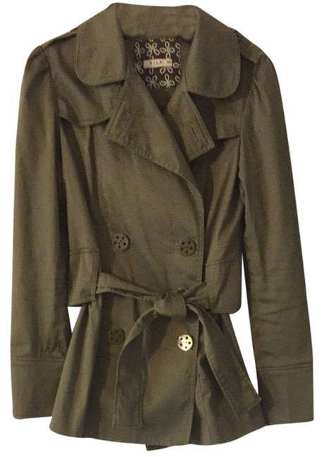 Item - Green Short Trench Jacket Size 0 (XS)