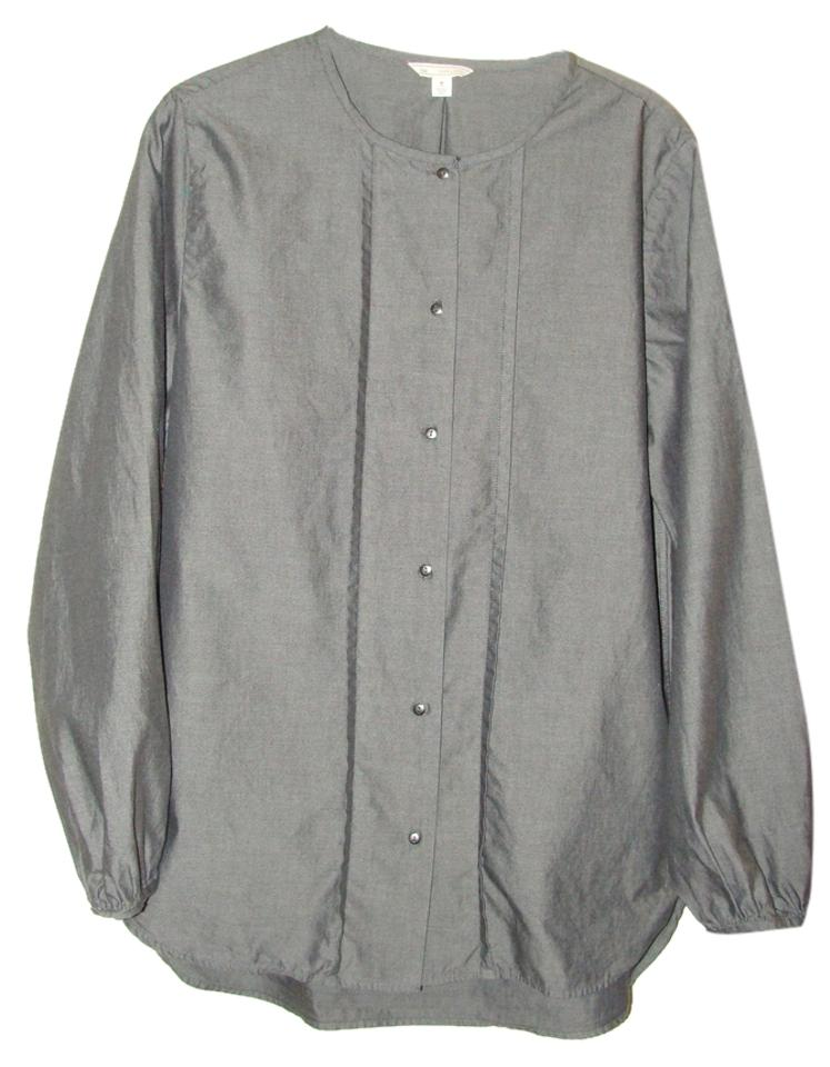 gap black chambray mandarin oxford shirt tall medium